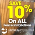 Save 10% on ALL Fence Installations