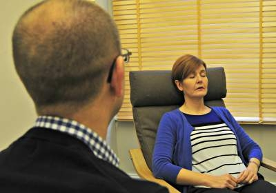 First Step Hypnosis Client Enjoys Relaxing Hypnosis Session