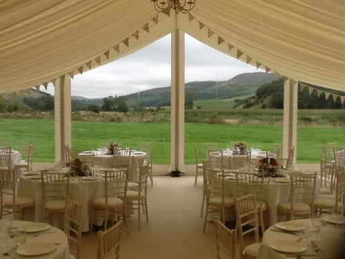 Wedding Marquee with clear gable end
