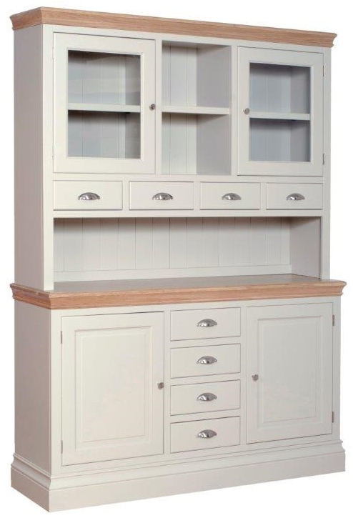 Langford Glass Top Painted Dresser with Spice Drawers