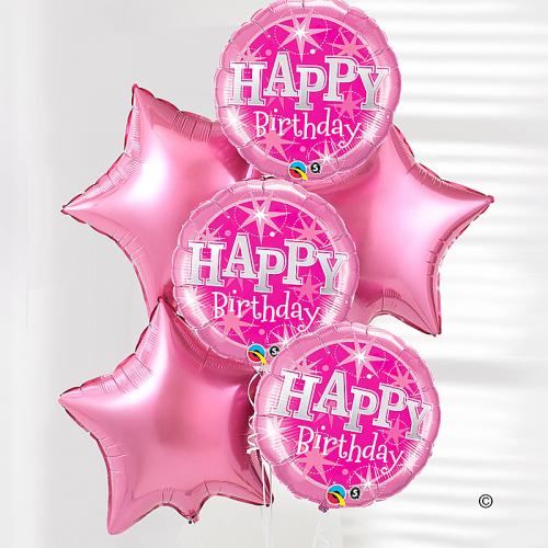 Happy Birthday Pink Balloon Bouquet