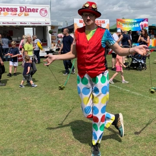 Entertaining at Raunds Carnival 2019