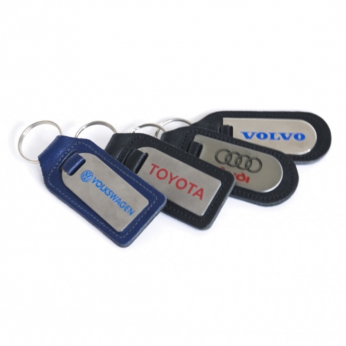 Own label leather key fobs