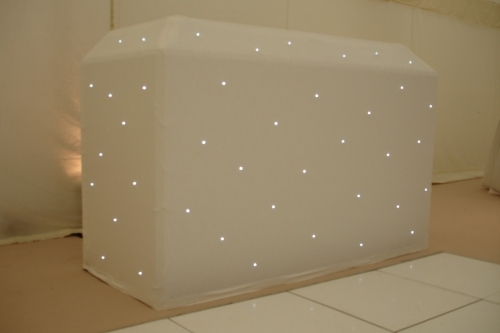White LED DJ Booth Disco Dance Marquee