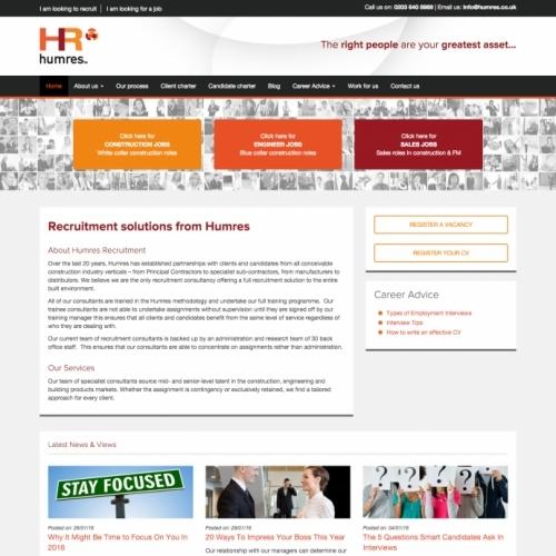 Humres Recruitment Corporate Website