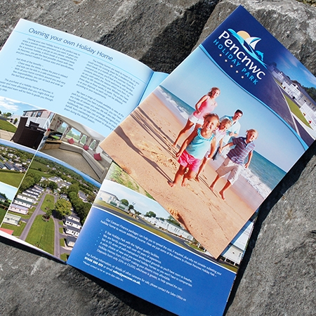 Brochures designed and printed in Pembrokeshire for Pencnwc Holiday Park