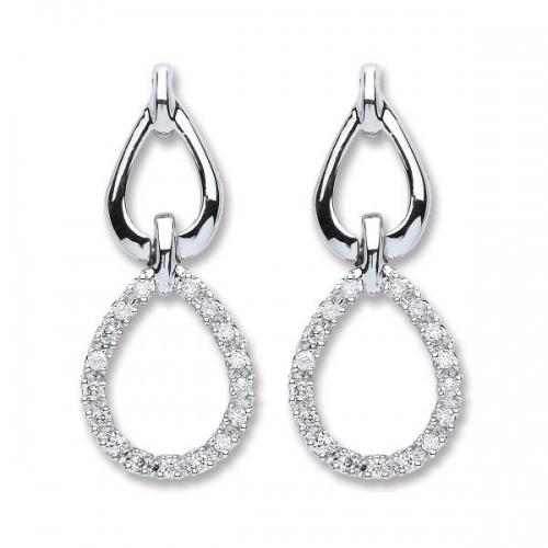 Diamond Earrings By Silver Aura Jewellery - Sader00085 600x600