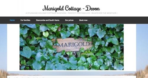Marigold Cottage in Devon - Accommodation Website Design